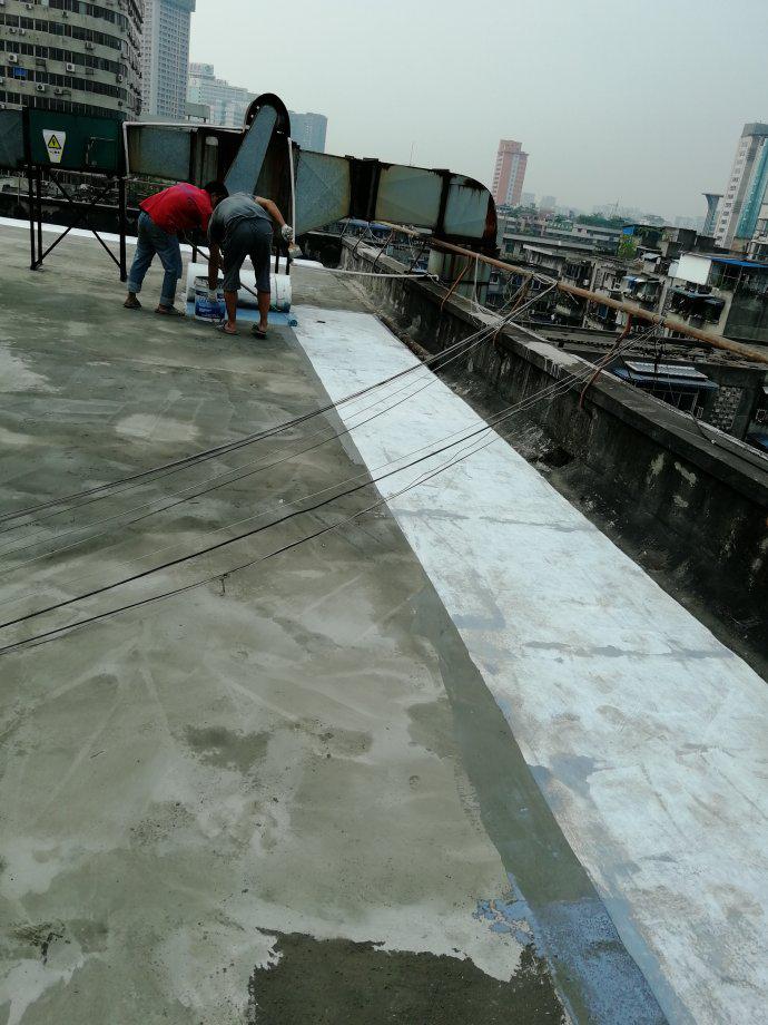 屋面防水维修一涂施工