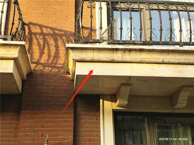 维修后(专门定制修复阳台外侧石材)