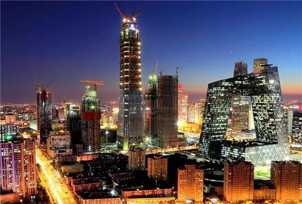 中国尊夜景_外墙装饰装修施工图片