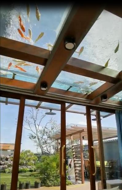 阳光房景观鱼池渗漏水维修