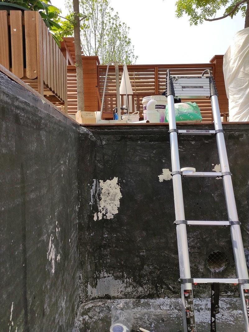 别墅景观水池渗漏水检查