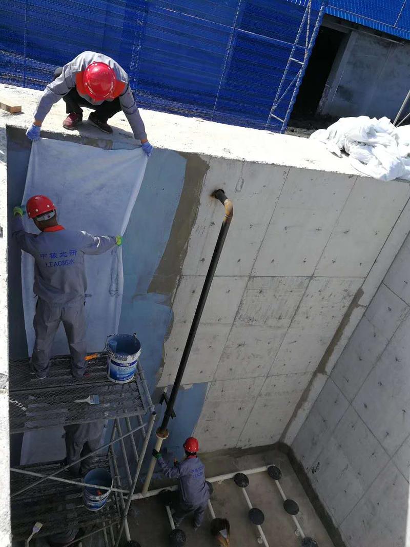 中铝能源煤矿污水处理厂LEAC材料防水防腐施工中