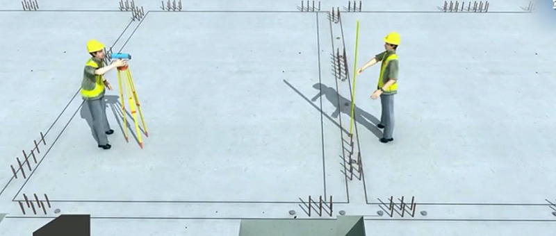 装配式预制墙体上放线
