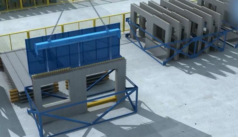 装配式构件采用钢梁吊装