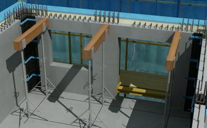 装配式楼板水平构件安装前的支撑