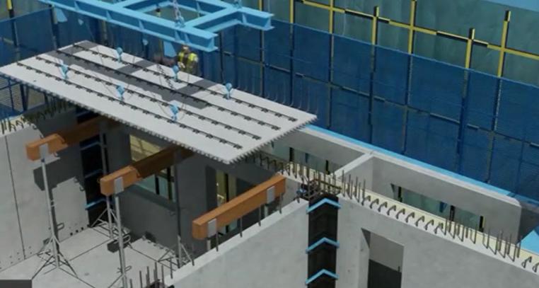 装配式楼板水平构件安装
