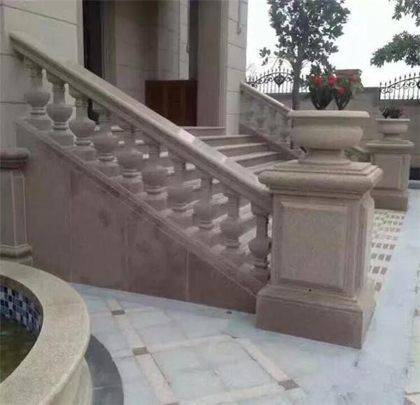 别墅改造翻新石材扶手