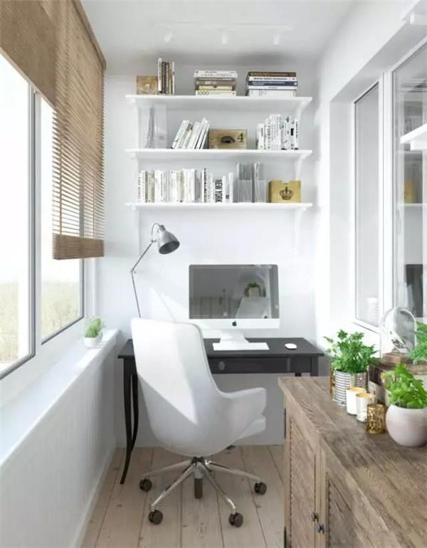 别墅阳台改造学习室