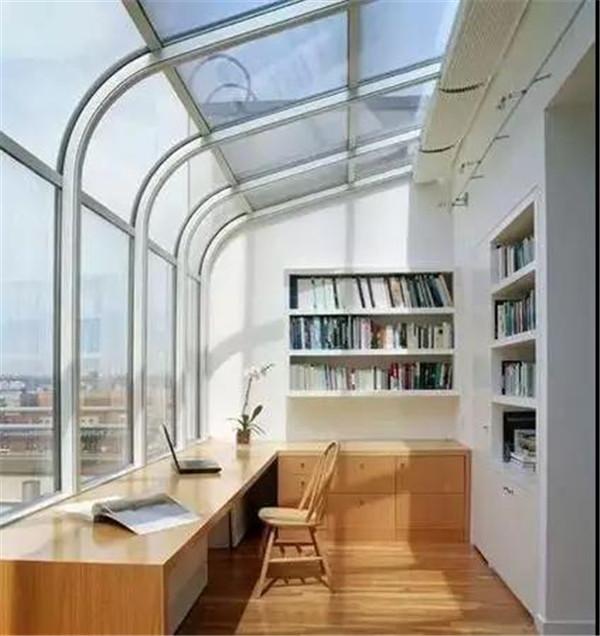 别墅阳台改造书房
