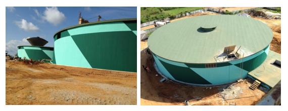 储水罐防水层暴露浸水使用不设保护层