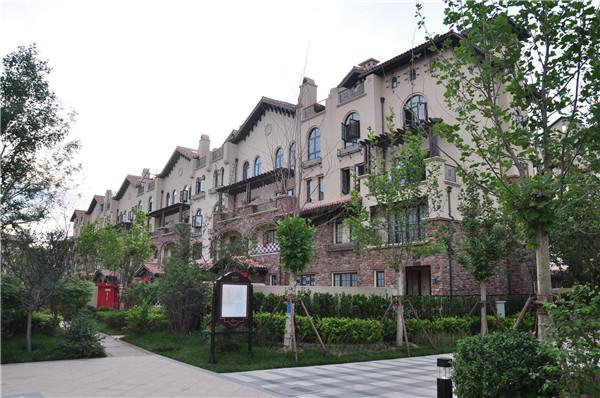北京-别墅整体外装-静水园文化石粘贴效果