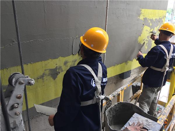外墙保温维修挂网