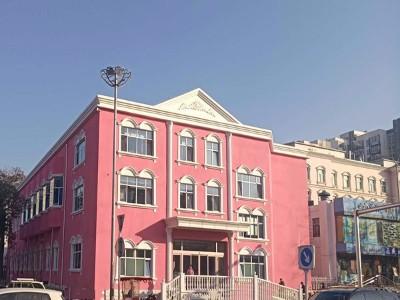 粉红色外墙乳胶漆效果图
