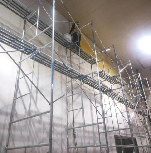 工厂车间翻新维修墙面