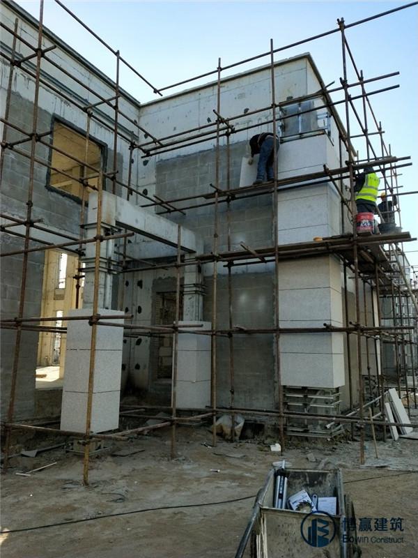 干挂石材外墙装修1