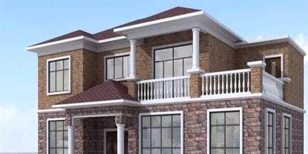 别墅整体翻新——外墙翻新瓷砖搭配效果图