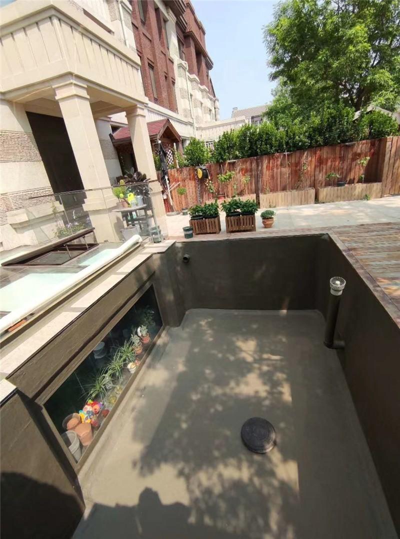 别墅景观鱼池渗漏水防水维修施工完毕