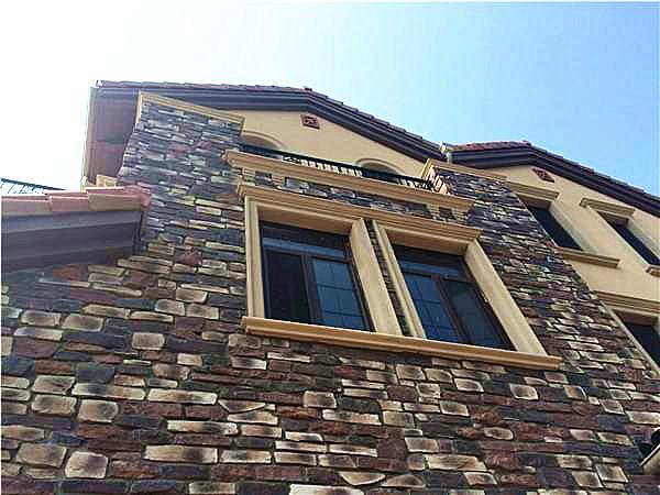 别墅外墙文化砖立面墙施工