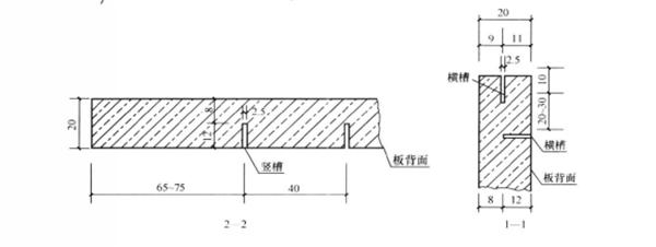 干挂石材板材结构示意图1