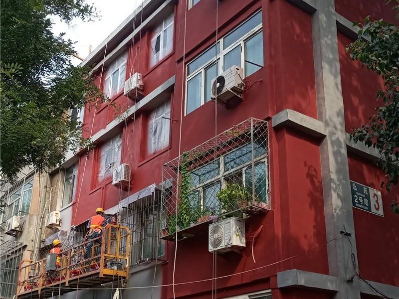 北京旧楼改造翻新真石漆施工