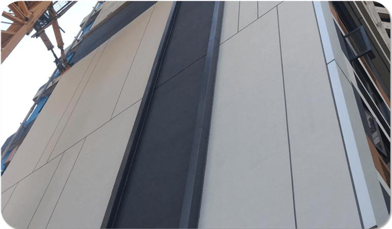外墙仿干挂石材 - 真石漆、质感描缝
