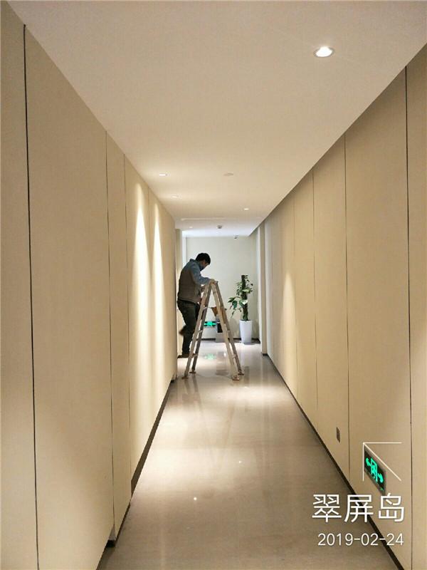 酒店墙面肌理漆施工