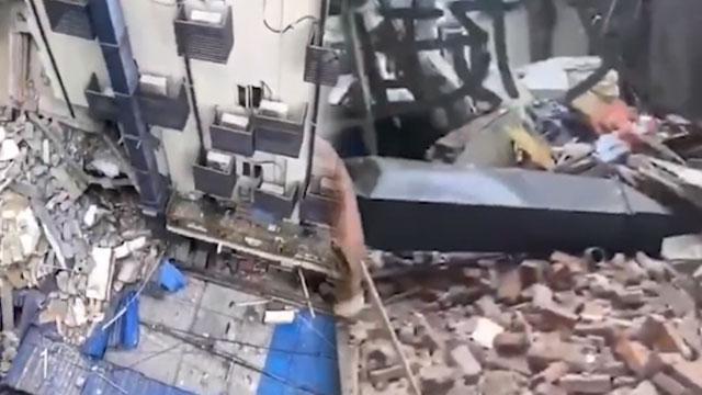 武汉酒店大楼坍塌