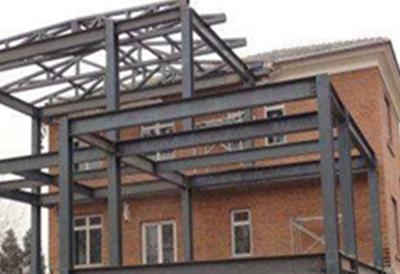 别墅改造之钢架构加建