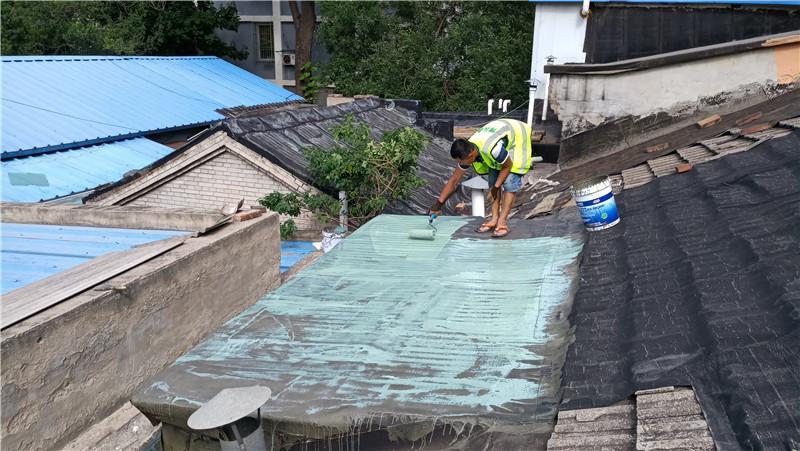 sbs卷材屋面漏水防水维修施工照片