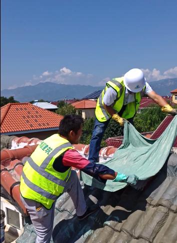 小青瓦屋面防水维修施工后的屋面防水效果图2