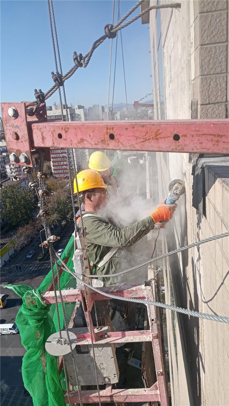 外墙空鼓瓷砖小型切割拆除2