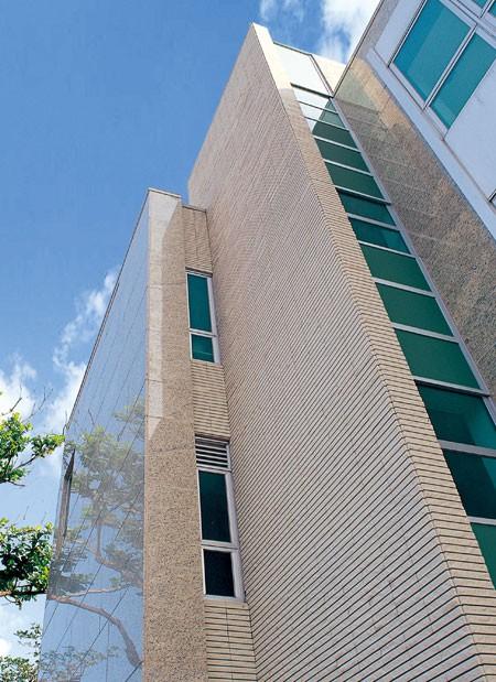 办公楼外墙瓷砖粘贴效果图