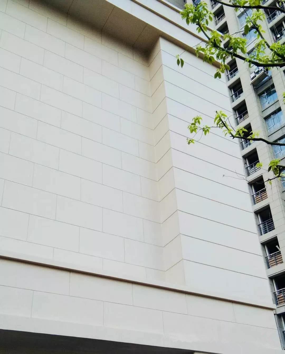 西山墙外墙石灰石案例效果图