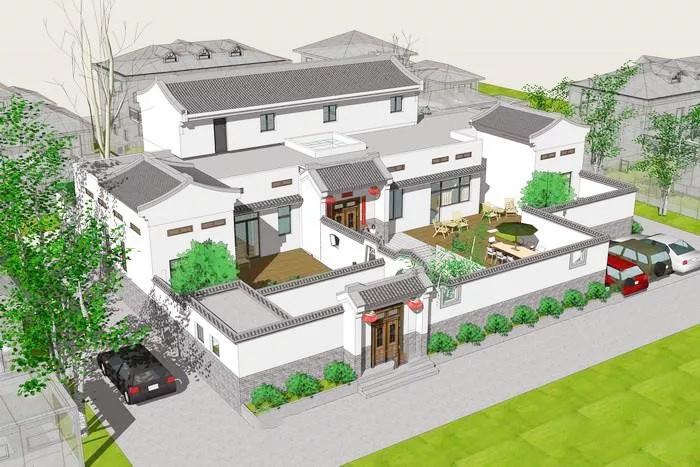 现代别墅翻新装修效果图