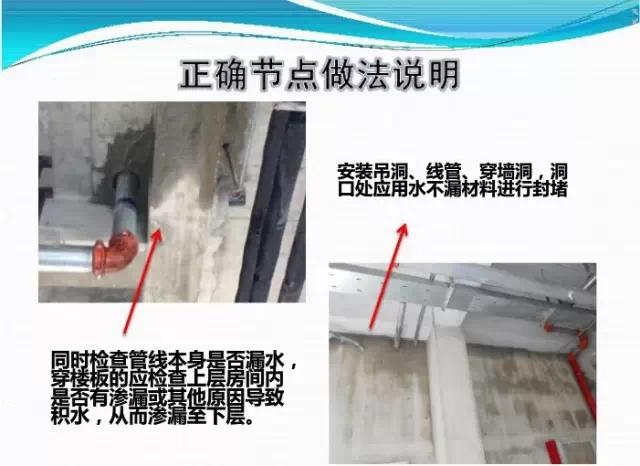 线管洞口渗漏水节点处理