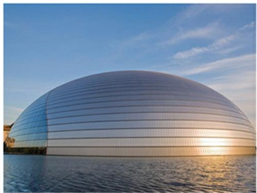 国家大剧院水景和穹顶防水涂料维修施工